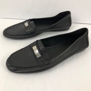 Coach Fredrica Leather Closed Toe Loafers